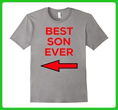 Mens Best Son Ever Red Arrow Graphic Logo T-Shirt Medium Slate - Relatives and family shirts (*Amazon Partner-Link)
