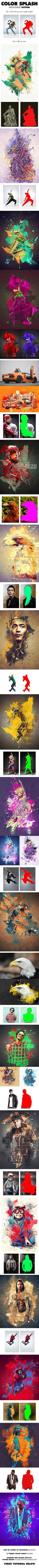Typo and Watercolor Splash Photoshop Action