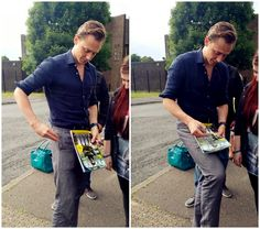 Tom and his lovely fans