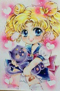 and baby anime Baby Usagi-chan - Baby Usagi-chan - Cristal Sailor Moon, Arte Sailor Moon, Sailor Moon Fan Art, Sailor Moon Character, Sailor Moon Usagi, Sailor Uranus, Sailor Moon Crystal, Hinata, Sasuke