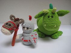 Crochet Knight & Dragon (from Etsy).                           .