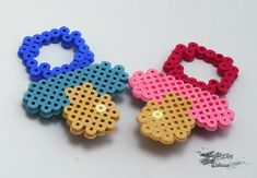 Pacifier Pin Hama Beads by IMPROVINGDREAMS