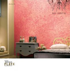 Visit inspiration gallery for wall painting ideas & wall colour combinations. Get interior & exterior wall paint design ideas for your walls only at Asian Paints. Bedroom Wall Designs, Bedroom Wall Colors, Wall Paint Colors, Room Colors, House Colors, Wall Colours, Wall Painting Living Room, Diy Wall Painting, Room Paint