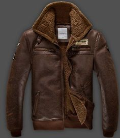 Cazadora de hombre de cuero / Men Bomber Jacket Leather