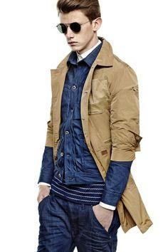 G-Star Raw brand shop jeans men women denim denim RAW research trousers shirts Teen Boy Fashion, Mens Fashion, High Fashion, Street Style 2014, Textiles, Mens Style Guide, Raw Denim, G Star Raw, Fashion Books
