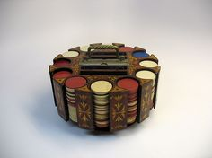chips holder - Google Search Gaming Furniture, Las Vegas Resorts, Lazy Susan, Wood Watch, Chips, Victorian, Clay, Google Search, Vintage