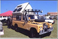 1971 Land Rover 109 with Dormobile pop top.