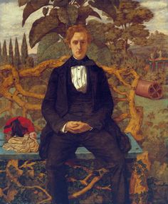 Richard Dadd, 'Portrait of a Young Man', Tate Gallery. Now thought to be a portrait of Dr Charles Hood, the artist's doctor. Maurice Denis, Richard Dadd, Art Nouveau, Tate Gallery, English Artists, British Artists, Victorian Art, Art Uk, Claude Monet