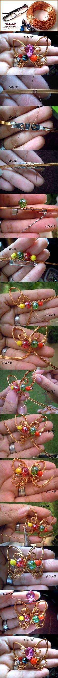 Брошь из проволоки своими руками. Wire Jewelry | Рукодел