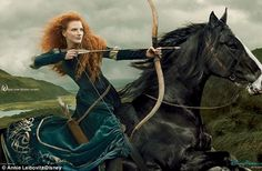 Jessica Chastain as Princess Merida from Brave.  Shot by Annie Leibovitz.