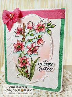 Orchids Rock Stamp Set   Power Poppy by Marcella Hawley