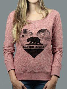 California Bear Heart Sweater