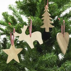 Wooden Christmas Decorations from Lights4fun