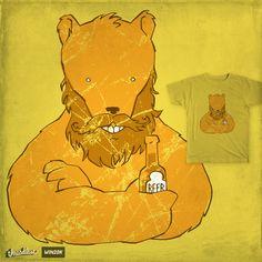 Beer-bearing Bearded Bear on Threadless