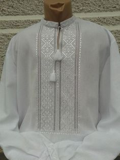 Hardanger Embroidery, Embroidery Stitches, Embroidery Patterns, Semi Casual Outfit, Casual Outfits, Gents Kurta, Kurta Men, Crochet Doily Diagram, Mens Kurta Designs