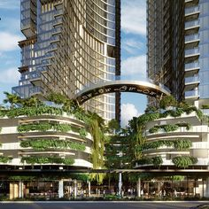 Orion Towers by Woods Bagot Residential Building Design, Architecture Building Design, Architecture Concept Drawings, Organic Architecture, Modern Architecture House, Facade Design, Futuristic Architecture, Amazing Architecture, Pavilion Architecture