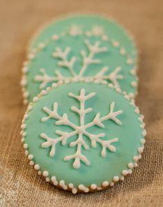 Snowflake Sugar Cookies, winter cookies, Christmas cookies