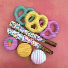 Celebrate life's moments. Personalize our artisan decorate cookies for every occasion. XOXO Deliveries Delicious Pretzels Collection.  See our website to order these beautiful cookies. XOXO Deliveries features artisan decorated cookies for all of life's special moments.