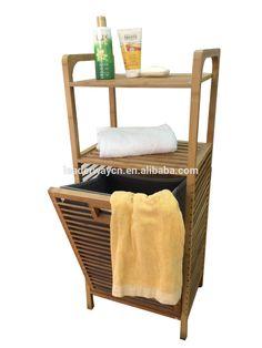Móveis para de bambu quadro lanundry suja cesto