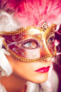 Girl Behind The Mask Royalty Free Stock Photo