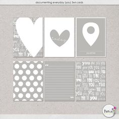 Free Documenting Everyday {You} Journal Cards from Dunia Designs {on Facebook}