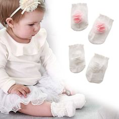 Cute Floral Baby Girl's Casual Soft Cotton Floor Socks