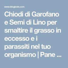 Chiodi di Garofano e Semi di Lino per smaltire il grasso in eccesso e i parassiti nel tuo organismo   Pane e Circo   Bloglovin'
