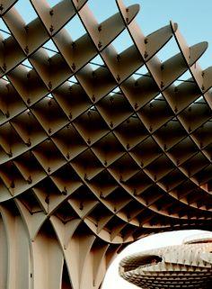 """Metropol Parasol"" (detail), Sevilla, 2004-2011.  Photo: Fernando Alda. Seville, Opera House, Louvre, Museum, Detail, Architecture, Building, Travel, Graz"