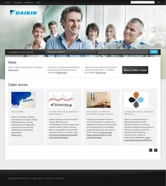 #webdesign - Refreshing new websites for Daikin Europe NV