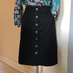 """Zara pencil skirt - black Like New -Zara Basic Black Front button pencil skirt.  Waist 15""""- Length 22.5""""- 7 buttons - Zara  Skirts Pencil"""