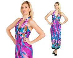 Halter Maxi Dress Long Resort Wear