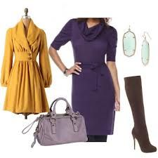 Google Image Result for http://journeychic.com/wp-content/uploads/2011/11/yellow-coat-and-purple-dress.jpg