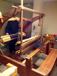 My loom. Old and beautiful.