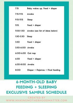 6 Month Old Feeding Schedule FREE Printable Food Charts Food