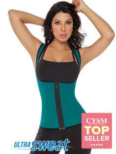 f17154aafc5 8002 - Sweat Enhancing Thermal Vest   Chaleco Ultra Sweat Dama Waist  Training Cincher