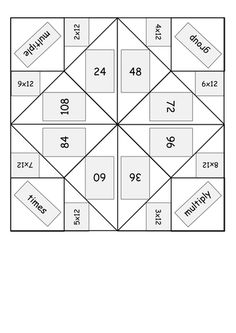 TpT FREE Fortune teller activity to boost memorization of