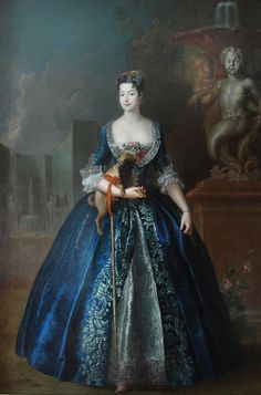 Antoine Pesne, Portrait of Anna Orzelska with a pug, circa 1728, National Museum, Warsaw