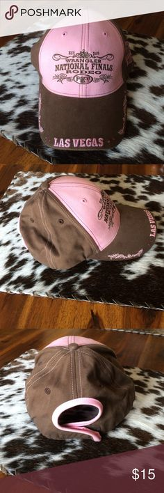 National Finals Rodeo Hat Never worn NFR Vegas hat with rhinestones and design on the bill. Adjustable Velcro circle back. Accessories Hats