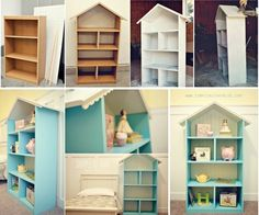 How to DIY DollHouse Bookcase | www.FabArtDIY.com