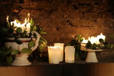 #candle#flowers#white#green#casatormene#selvazzano