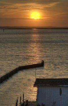 Sunset over Currituck Sound, Outer Banks, North Carolina
