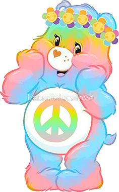 care bear hippie care bears hippie carebears carebear (remember RECYCLE all packaging it comes in) Care Bear Tattoos, Tattoo Care, Hippie Life, Hippie Art, Hippie Peace, Care Bears, Bear Wallpaper, Rainbow Brite, Tatoo