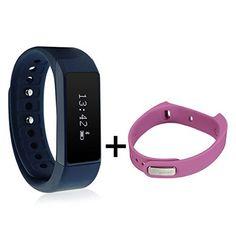 Smart Bracelet,ELEGIANT I5 Plus Waterproof Bluetooth Sports Bracelet Pedometer Tracking Calorie Health Wristband Sleep Monitor For Samsung Andriod Smart Phones with Band Bracelet Sets Blue - http://www.exercisejoy.com/smart-braceletelegiant-i5-plus-waterproof-bluetooth-sports-bracelet-pedometer-tracking-calorie-health-wristband-sleep-monitor-for-samsung-andriod-smart-phones-with-band-bracelet-sets-blue/fitness/