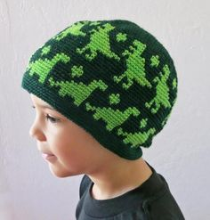 All Ages Dino Beanie (crochet) | Craftsy