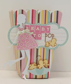 """Hosting a baby shower for someone who's """"ready to pop""""? Create an adorable baby shower with a popcorn theme! Popcorn Theme, Popcorn Boxes, Baby Shower Gift Bags, Pop Baby Showers, Shower Bebe, Ready To Pop, Baby Scrapbook, Baby Shower Decorations, Food Decoration"""