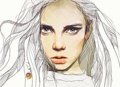 Nadiia Cherkasova é uma ilustradora ucrâniana. Ela mostra seu talento criando retratos digitais minimalistas, com um traço bem detalhado. Confira o portfólio!