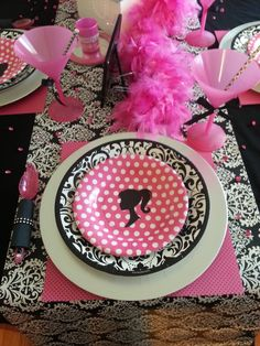Glam Baribe girl birthday party!  See more party ideas at CatchMyParty.com!