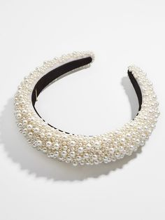 The prettiest way to pull back tresses is here, thanks to our Becca Beaded Headband. A monochrome beaded palette combines with a feminine silhouette to instantly elevate loose locks and updos alike. Pearl Headband, Wedding Headband, Diy Headband, Bridesmaid Headband, Handmade Headbands, Lace Headbands, Bridal Headbands, Pearl Grey, Cute Jewelry