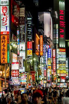 kabukicho, tokyo, japan | travel destinations in east asia + city night lights #wanderlust