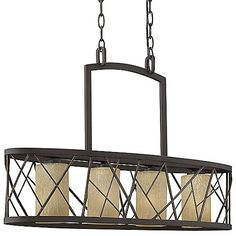 Organic modern elegance is portrayed beautifully through the Fredrick Ramond Nest Linear Suspension. Using patterns found in nature, Distressed Etched Glass shades are housed inside a
